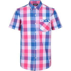 Regatta Ramiel Shortsleeve Shirt Men, bright pink check